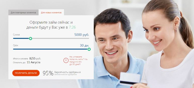 Онлайн заявка в Турбозайм